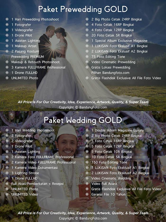 Paket Jasa Foto Prewedding Wedding Bandung Harga Murah GOLD
