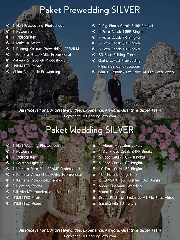 Paket Jasa Foto Prewedding Wedding Bandung Harga Murah SILVER